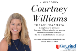 Courtney Williams joins Kelly Malatesta and Team